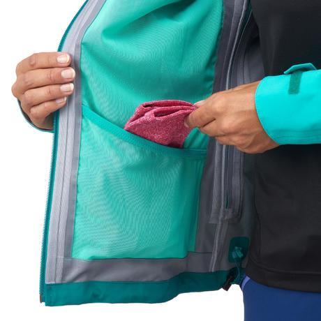 veste de pluie imperm able pour la randonn e montagne mh500 femme turquoise quechua. Black Bedroom Furniture Sets. Home Design Ideas