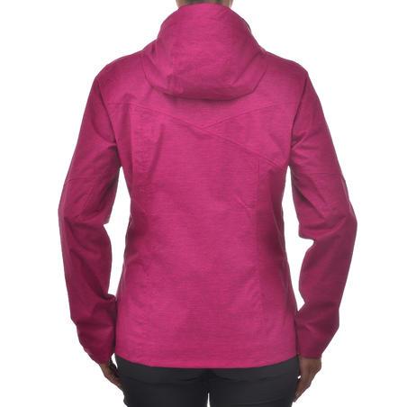 Women's MH100 Waterproof Mountain Hiking Rain Jacket – Heather Pink