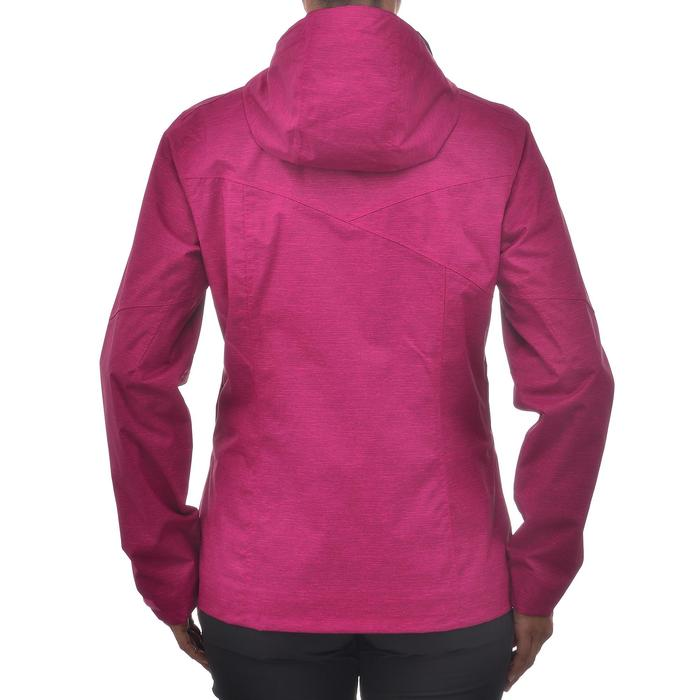 Women's waterproof mountain walking rain jacket MH100 – Pink