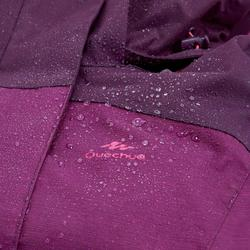 Women's MH100 waterproof mountain hiking marl jacket - Plum