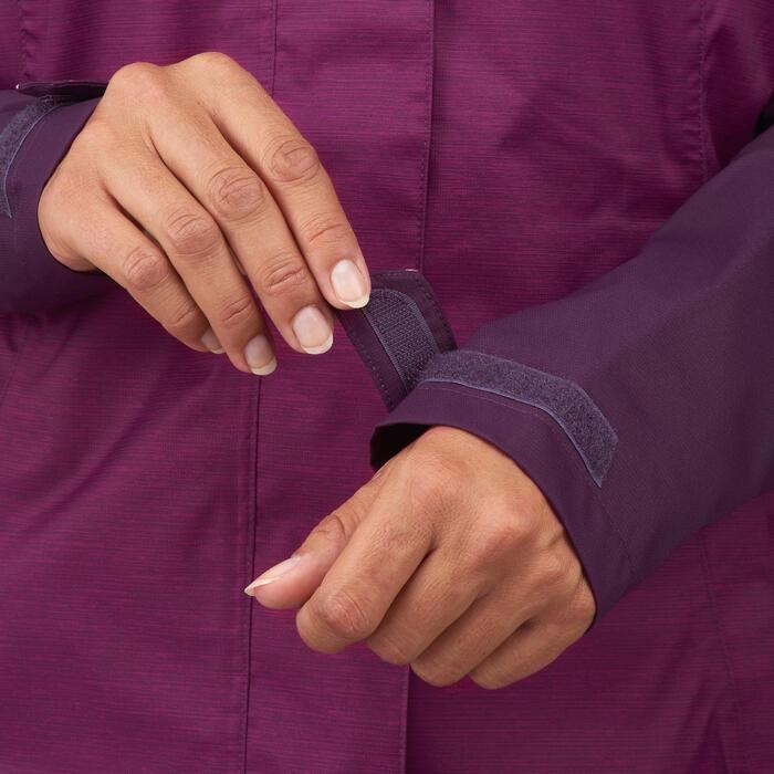 Wanderjacke Bergwandern MH100 wasserdicht Damen violett meliert