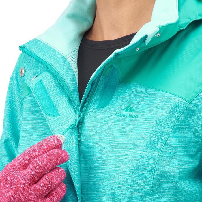 Waterdichte wandeljas MH100 voor dames gemêleerd turquoise