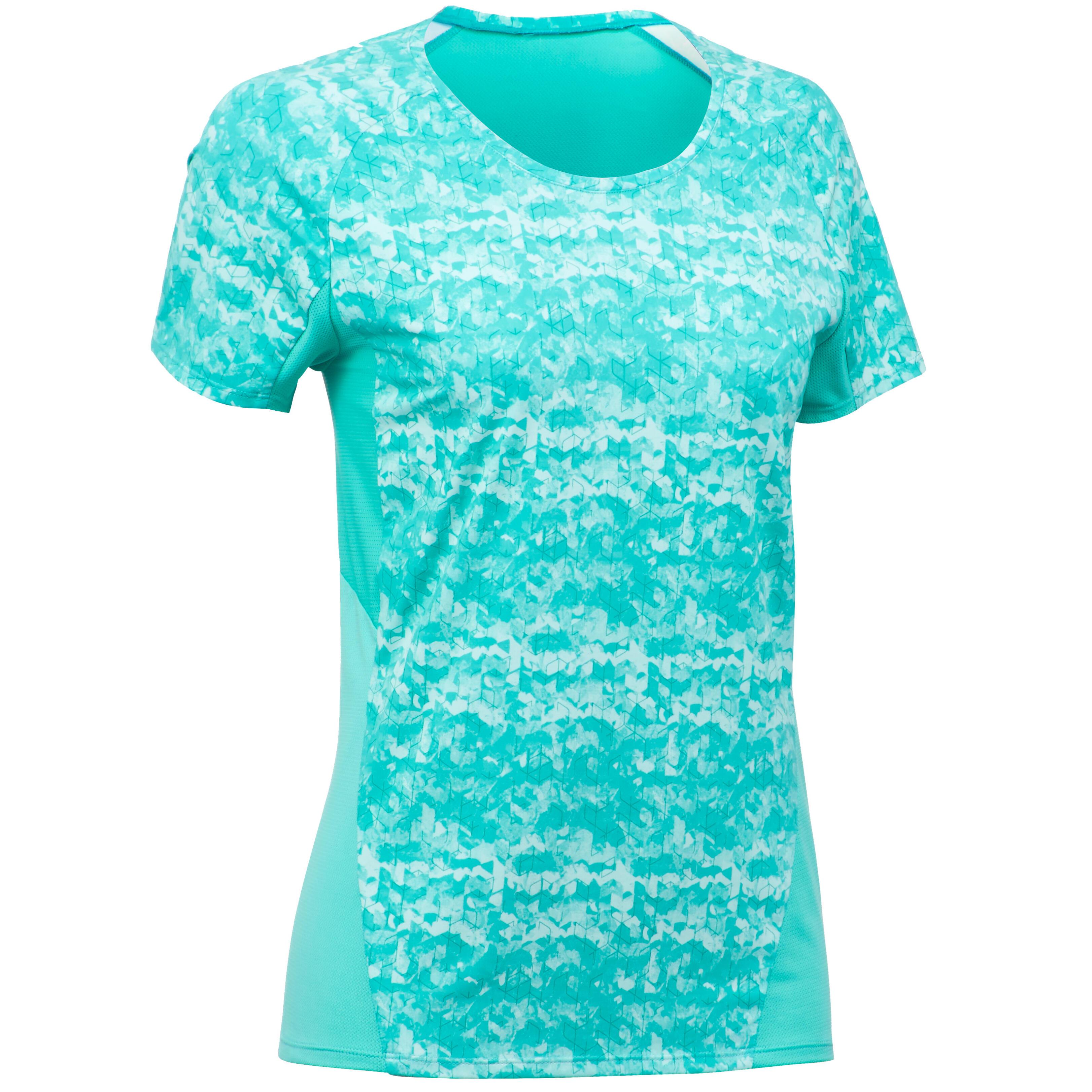 Quechua Wandel T-shirt met korte mouwen voor dames MH500 turquoise