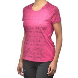 Camiseta Manga Corta de Montaña y Trekking Forclaz MH500 Mujer Rosa