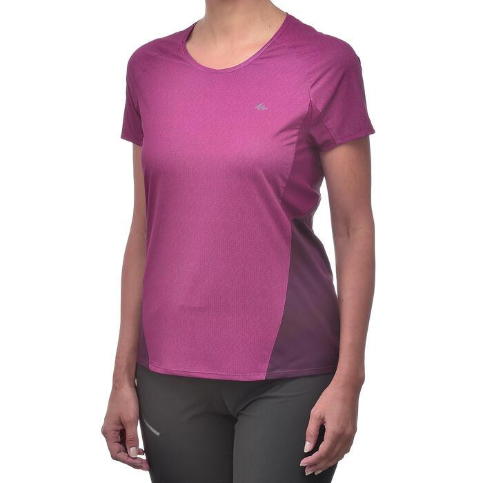 Tee-Shirt manches courtes randonnée Techfresh 100 femme - 1254346