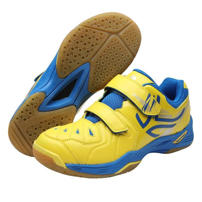 Badmintonschoenen voor kinderen BS800 geel/blauw