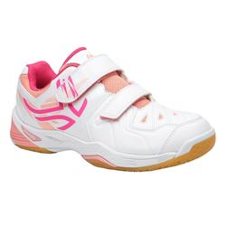 BS800 JR Kids' Badminton Shoes - White/Pink