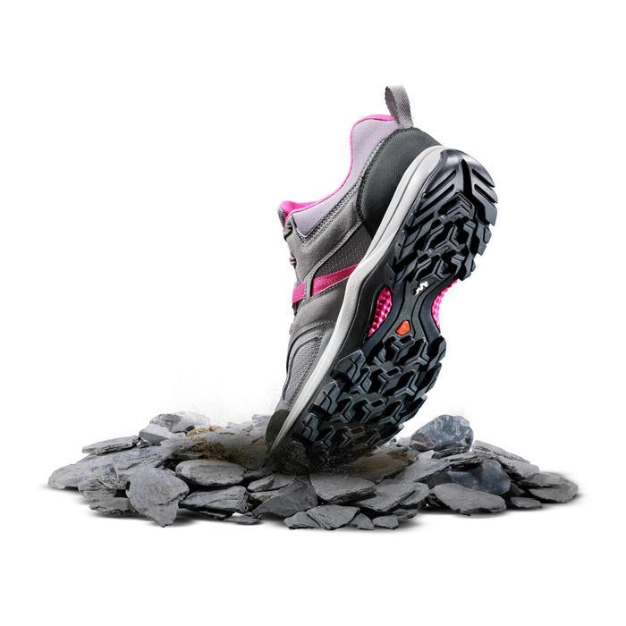 Zapatillas de senderismo montaña mujer MH100 Gris Rosa
