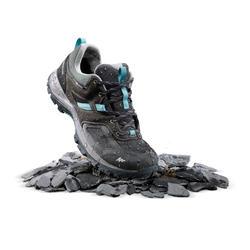 Chaussures de randonnée montagne femme MH100 imperméable Gris/Bleu