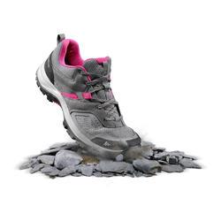 女性山區健行運動鞋 MH100 - 灰色/粉紅