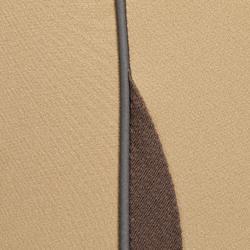 Reithose BR500 Mesh Damen Kniebesatz beige/braun