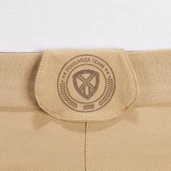 Pantalón equitación mujer BR500 MESH Beige y marrón