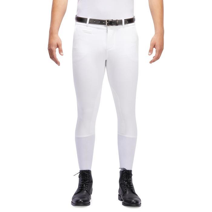 Pantalon Concours équitation homme BR140 basanes agrippantes blanc - 1254879