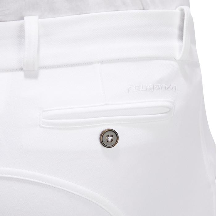 Wedstrijdbroek voor paardrijden heren 140 antislip kniestukken wit