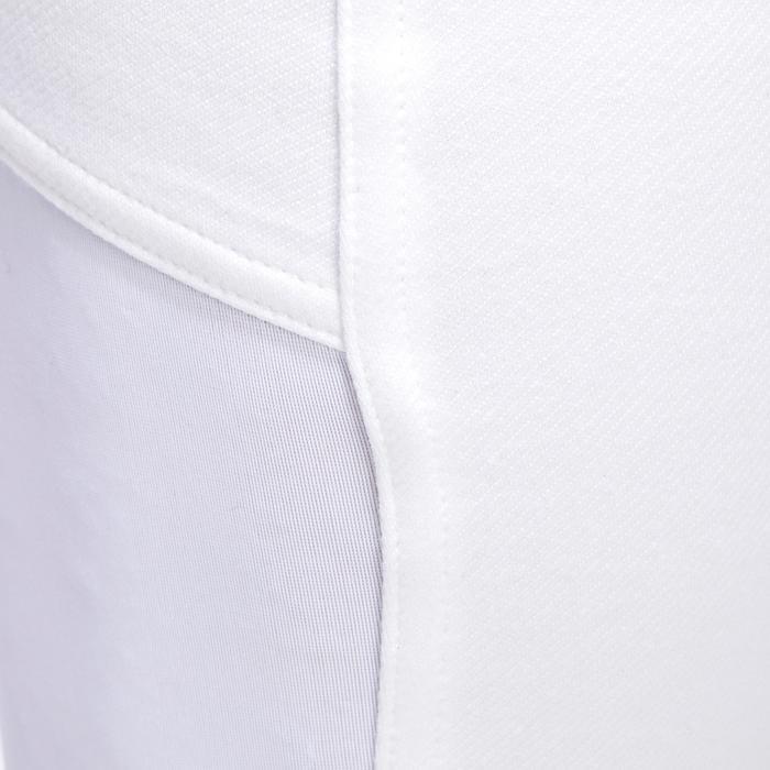 Pantalon de concours équitation homme 140 basanes agrippantes blanc