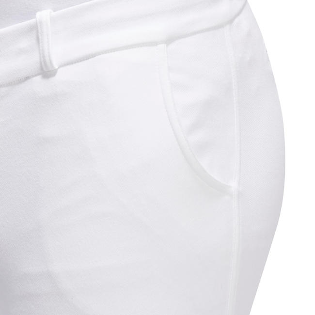 Adult Men's Horse Riding 140 Grippy Competition Jodhpurs - White
