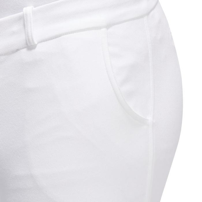 Herenrijbroek voor wedstrijden 140 met antislip knie-inzetten wit