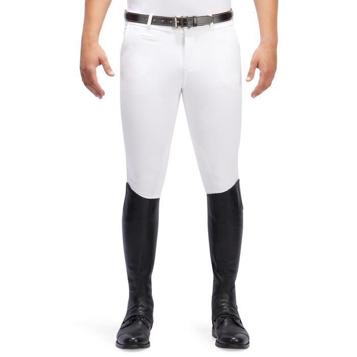 Pantalon Concours équitation homme BR140 basanes agrippantes blanc - 1254888