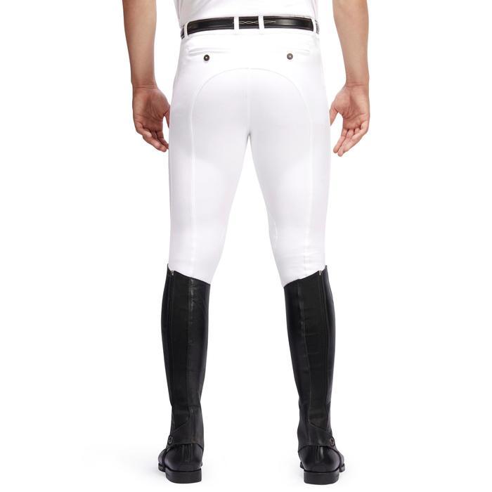 Pantalon Concours équitation homme BR140 basanes agrippantes blanc - 1254890