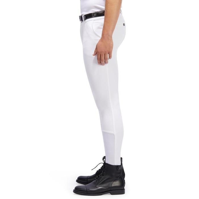 Pantalon Concours équitation homme BR140 basanes agrippantes blanc - 1254891
