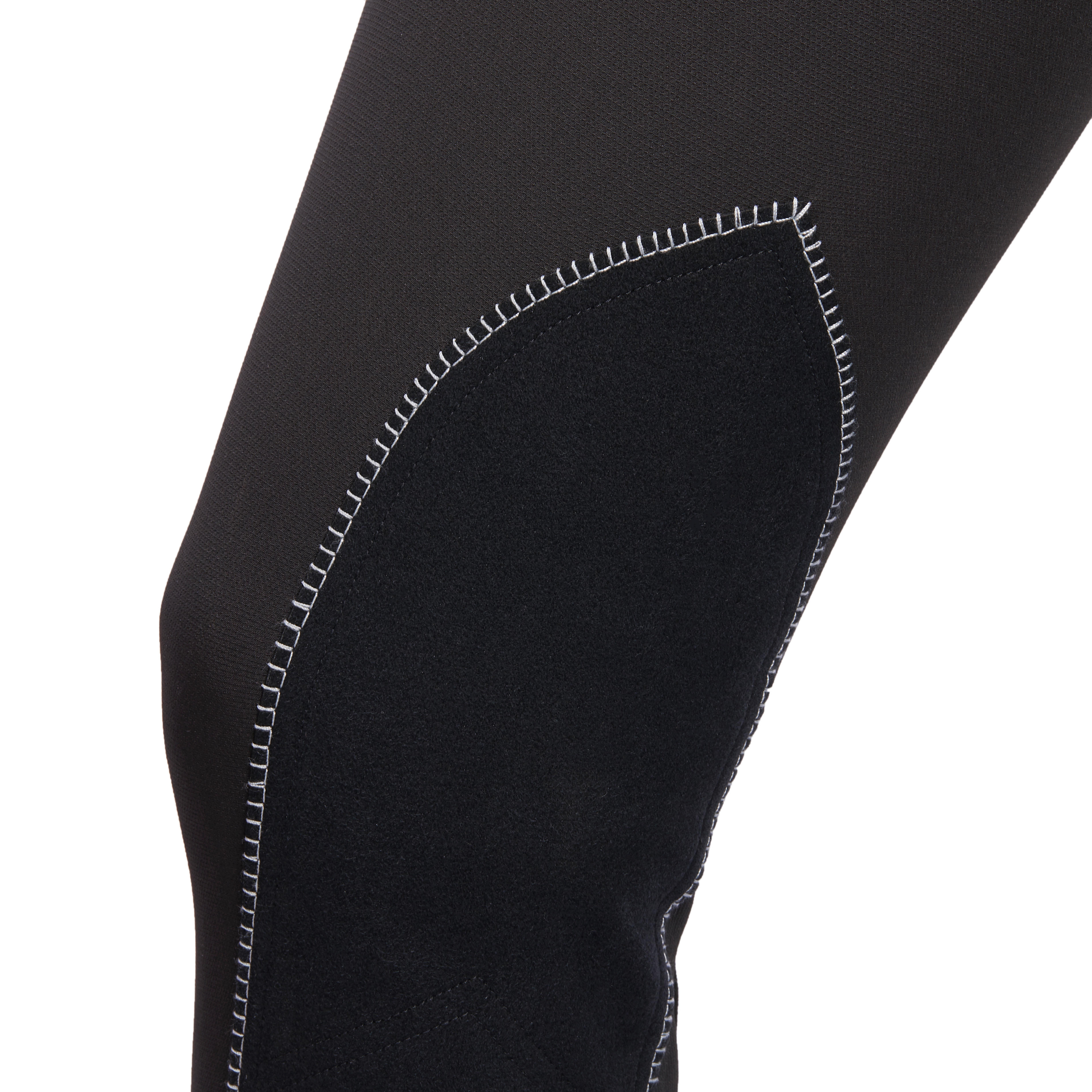 BR700 Women's Horseback Riding Seat Patch Jodhpurs - Black