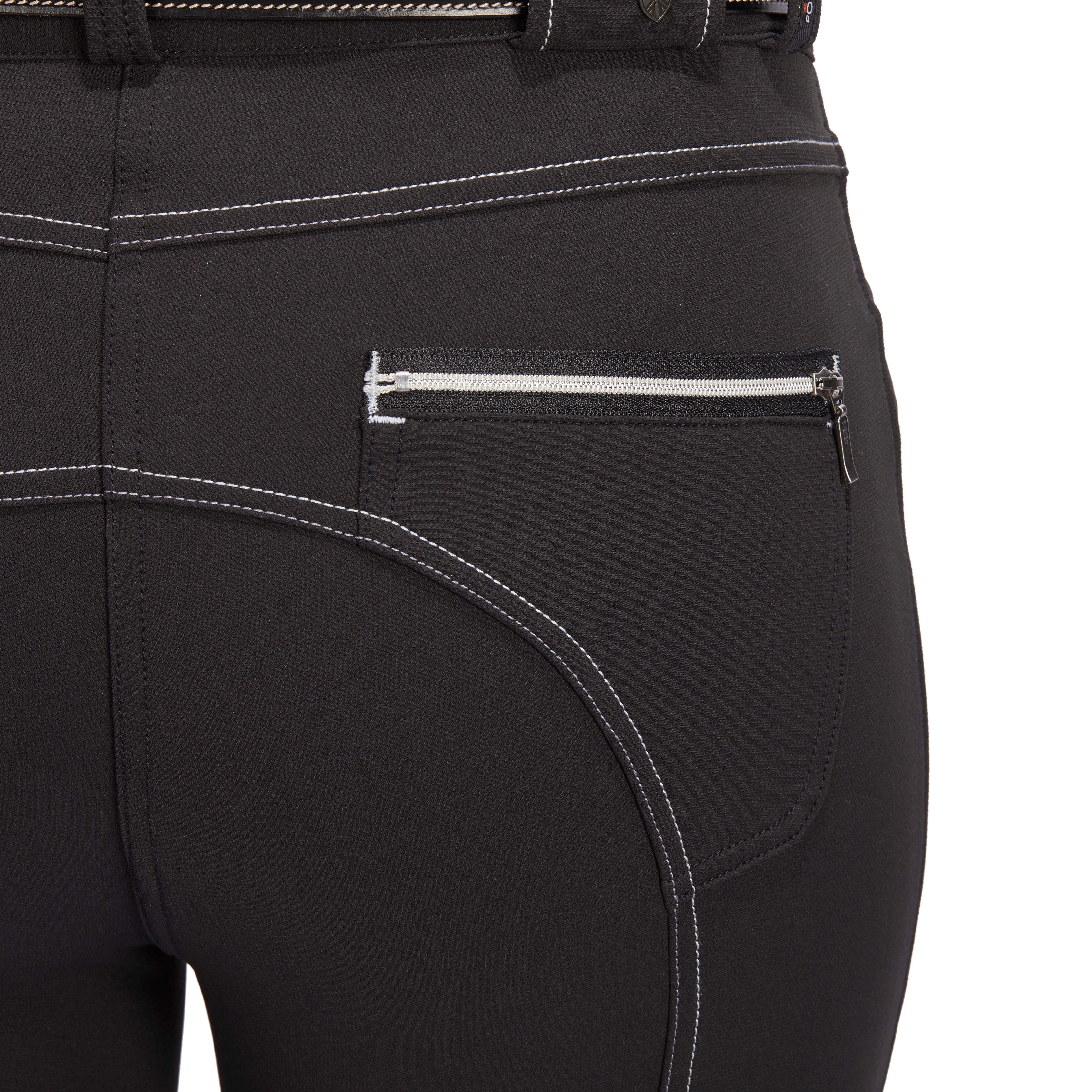 Pantalon équitation femme BR700 basanes noir