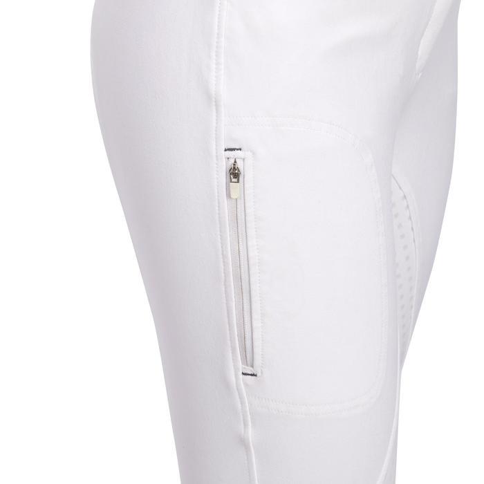 Pantalon Concours équitation femme BR980 fullgrip assise complète silicone blanc - 1254932