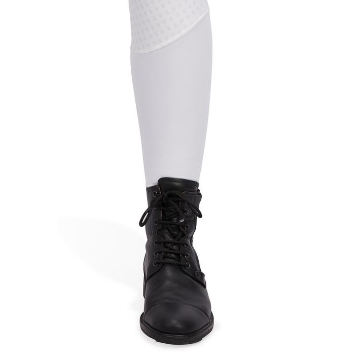 Dames wedstrijdbroek BR980 ruitersport fullgrip zitvlak in silicone wit