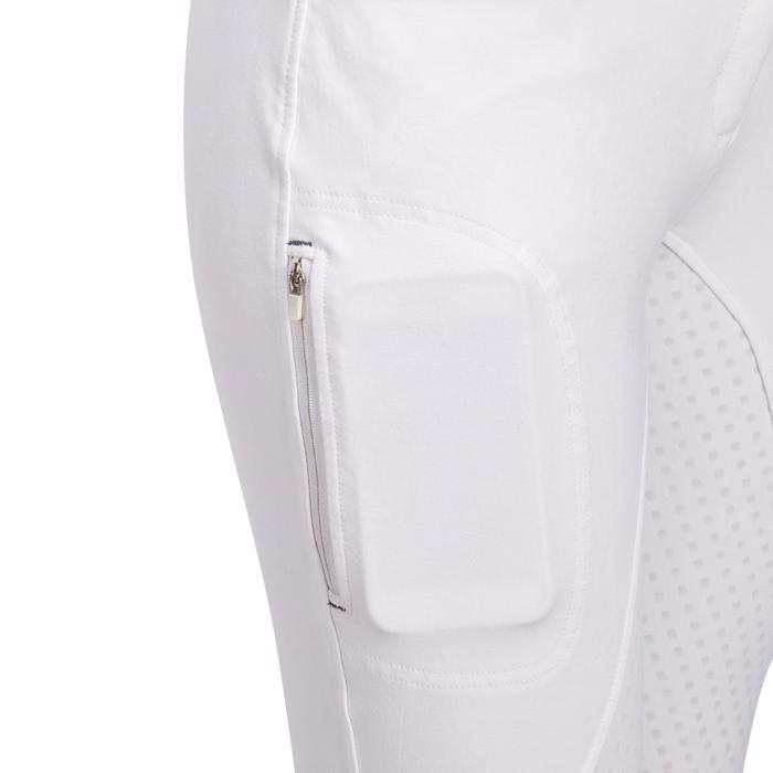 Pantalon Concours équitation femme BR980 fullgrip assise complète silicone blanc - 1254934