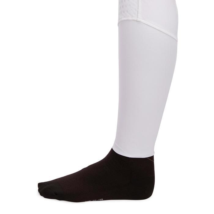 Pantalon Concours équitation femme BR980 fullgrip assise complète silicone blanc - 1254939