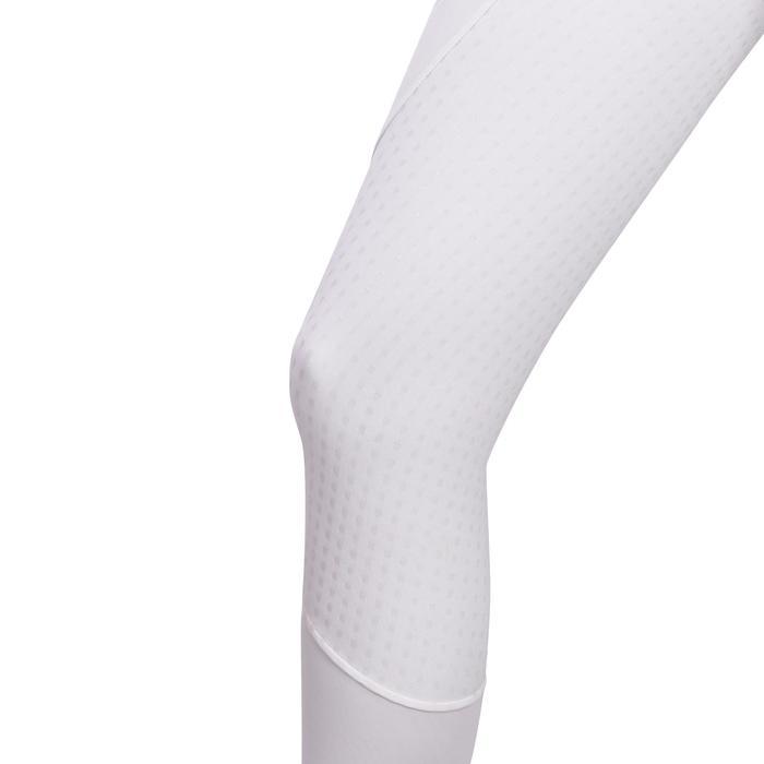 Pantalon Concours équitation femme BR980 fullgrip assise complète silicone blanc - 1254940