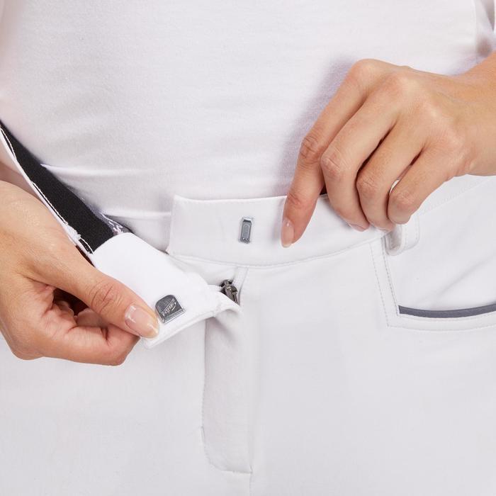 Pantalon Concours équitation femme BR980 fullgrip assise complète silicone blanc - 1254943