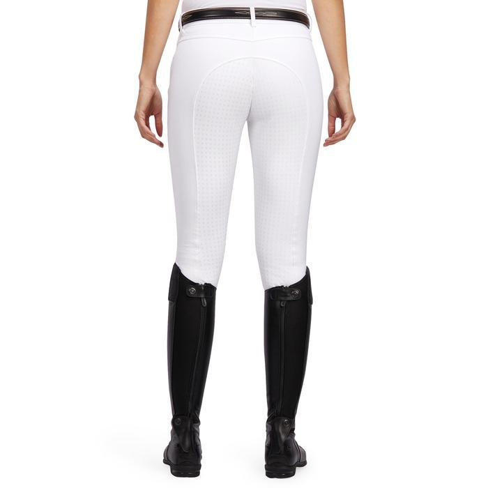 Pantalon Concours équitation femme BR980 fullgrip assise complète silicone blanc - 1254944