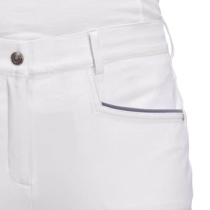 Pantalon Concours équitation femme BR980 fullgrip assise complète silicone blanc - 1254946