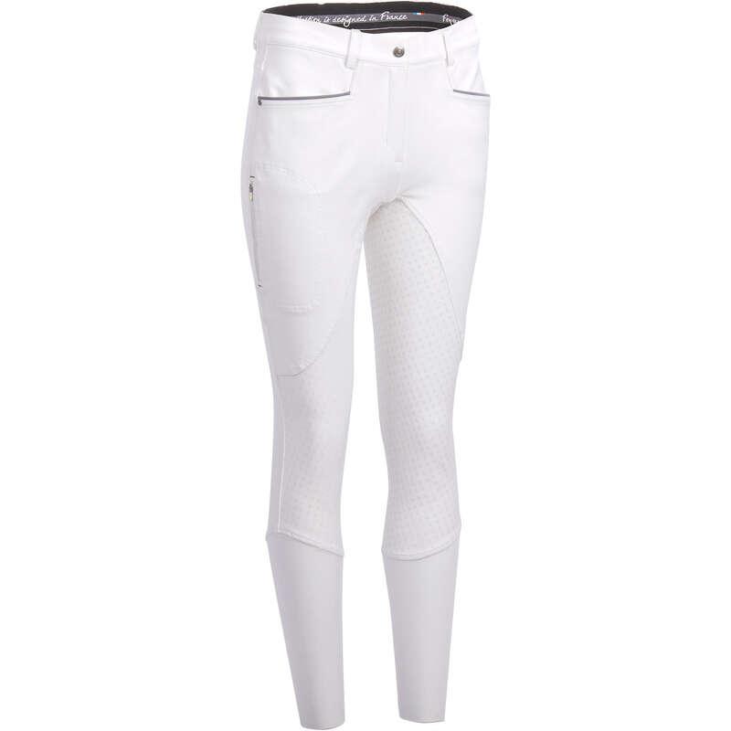 TÊXTIL COMPETIÇÃO EQUITAÇÃO Equitação - Calças 580 FULLGRIP branco FOUGANZA - Equitação Homem