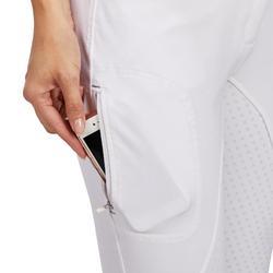 Wedstrijdrijbroek voor dames 580 Fullgrip zitvlak met silicone wit
