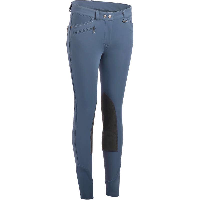 Îmbrăcăminte echitație damă - Pantalon BR700 Bazon Gri  FOUGANZA