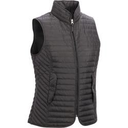 100 Women's Horse Riding Sleeveless Gilet - Black
