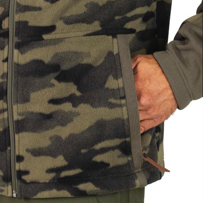 Fleece SG500 voor de jacht camouflage groen
