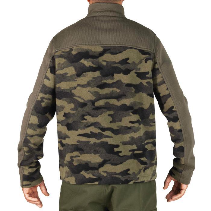 Fleecejacke 500 grün camouflage