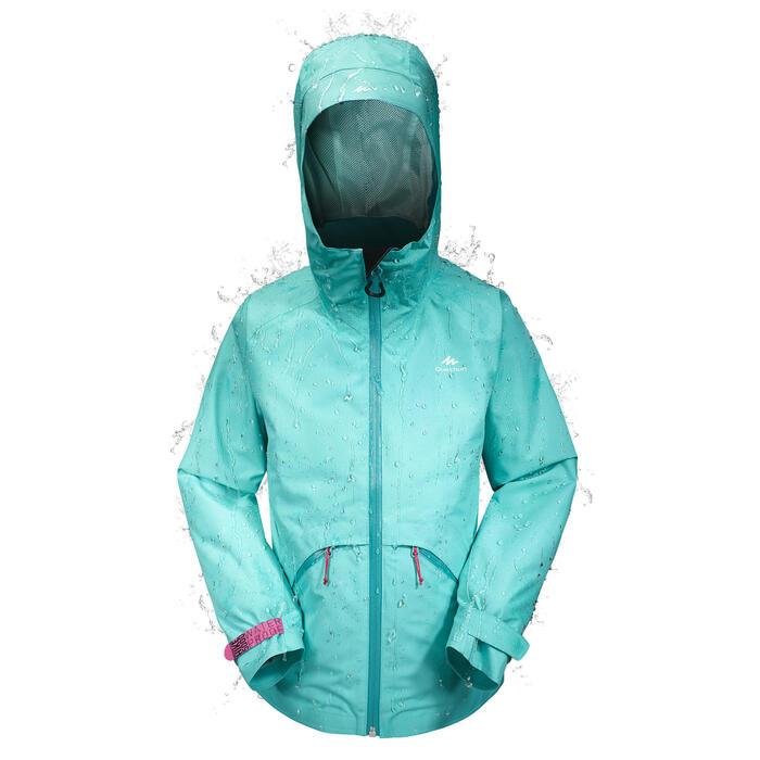 Veste de randonnée enfant Hike 900 turquoise