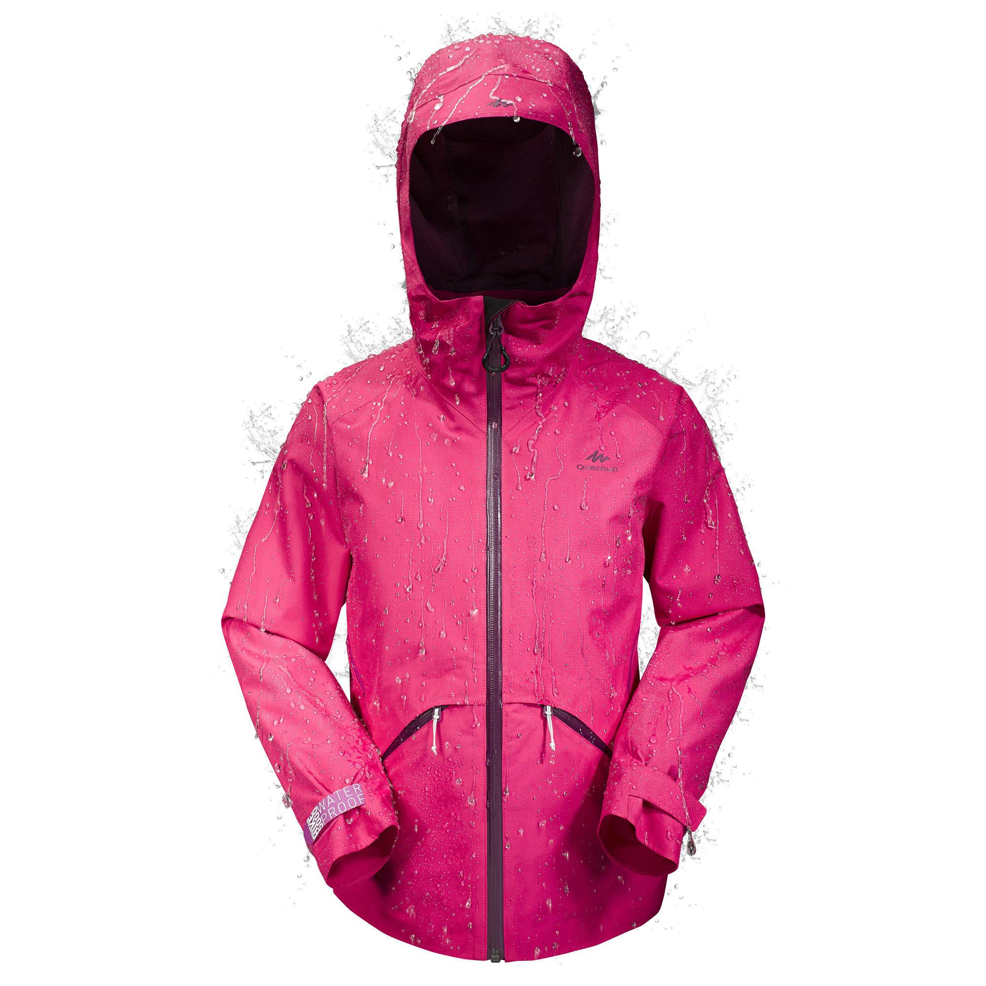 Jungen,Kinder Wanderjacke Hike 900 Kinder rosa | 03608439450457