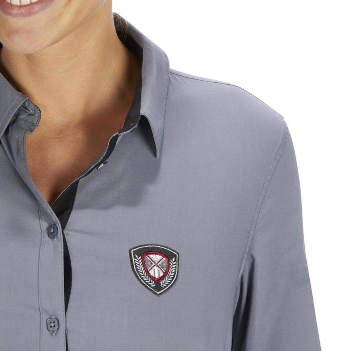 Chemise manches longues équitation femme Lady 700 grise - 1255094