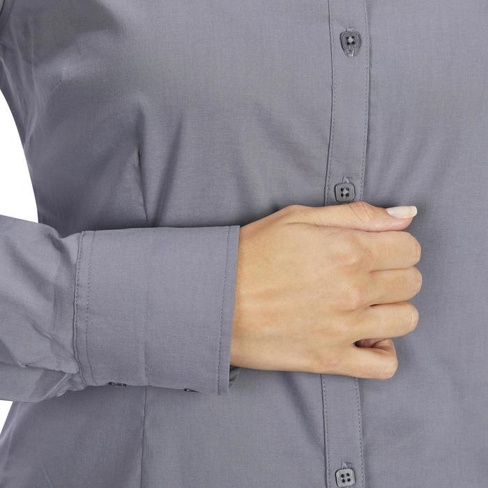 Chemise manches longues équitation femme Lady 700 grise - 1255096