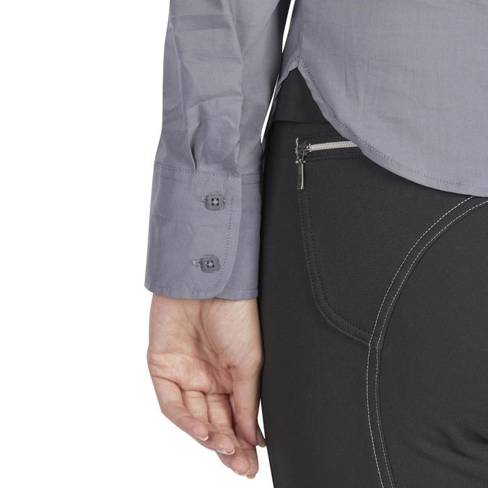 Chemise manches longues équitation femme Lady 700 grise - 1255097