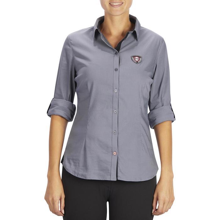 Chemise manches longues équitation femme Lady 700 grise - 1255099