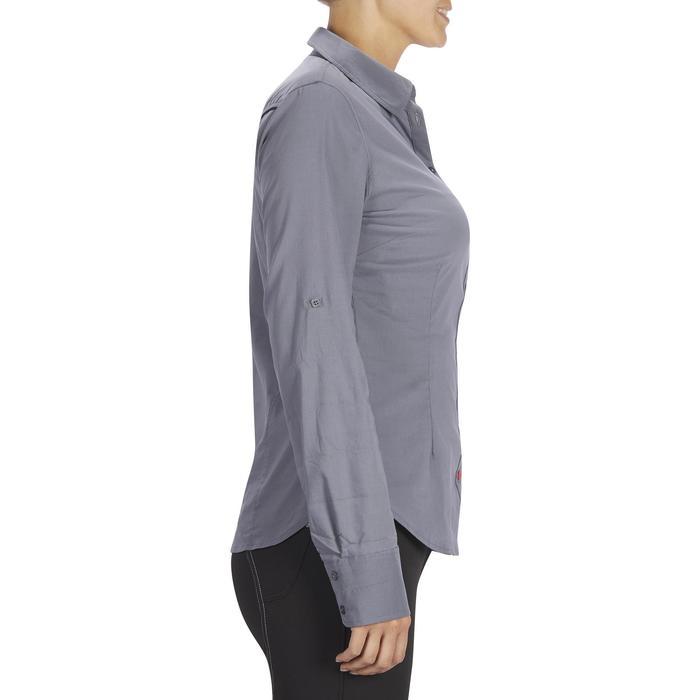 Chemise manches longues équitation femme Lady 700 grise - 1255104