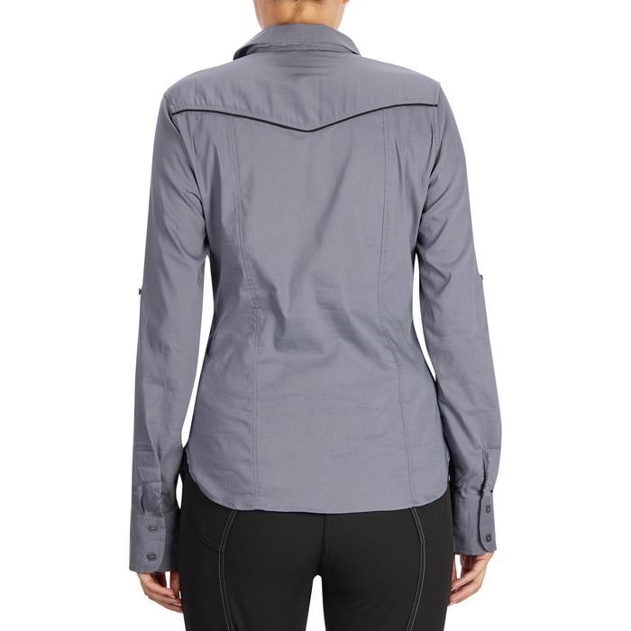 Chemise manches longues équitation femme Lady 700 grise - 1255105