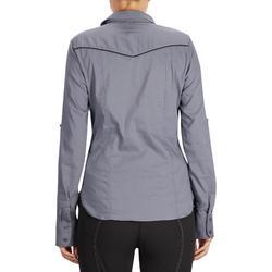 Damesblouse met lange mouwen ruitersport Lady 580 grijs