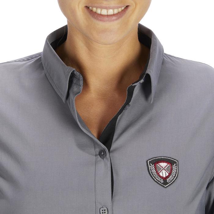 Chemise manches longues équitation femme Lady 700 grise - 1255107